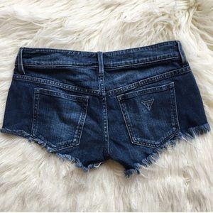 Guess cut off jean shorts
